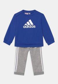 bold blue/medium grey heather/white