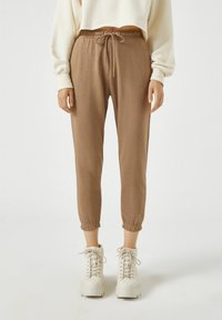 PULL&BEAR - Tracksuit bottoms - brown - 0