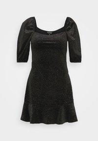 Miss Selfridge - RUCHED DRESS - Freizeitkleid - black - 0
