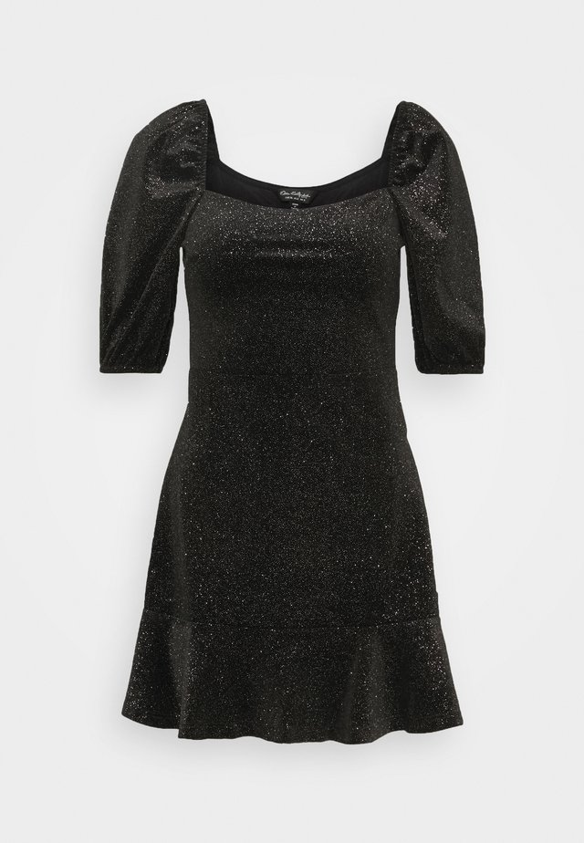 RUCHED DRESS - Day dress - black