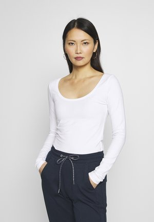 BASIC ROUND NECK LONG SLEEVES - Topper langermet - white