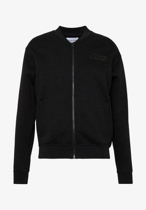 TRACK JACKET - Mikina na zip - black
