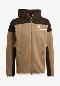adidas Performance - Zip-up sweatshirt - brown - 6
