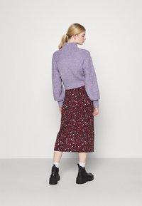 Even&Odd - Midi high slit high waisted skirt - Pennkjol - black/multi-coloured - 2