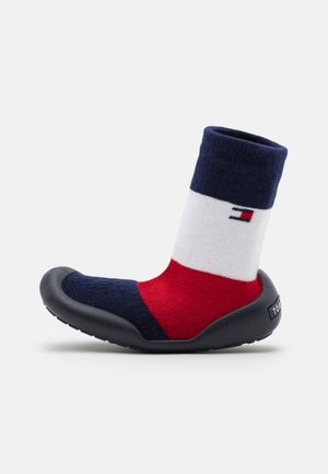 UNISEX - Slippers - blue/red/white