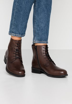 CARY - Lace-up ankle boots - espresso