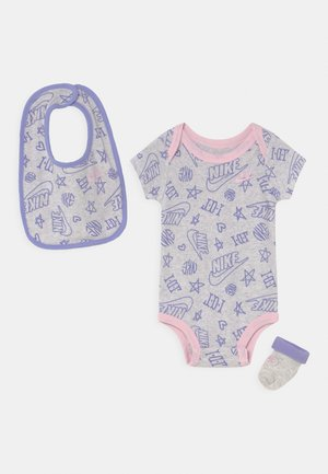 MINI MONOGRAM SET UNISEX - Print T-shirt - purple chalk