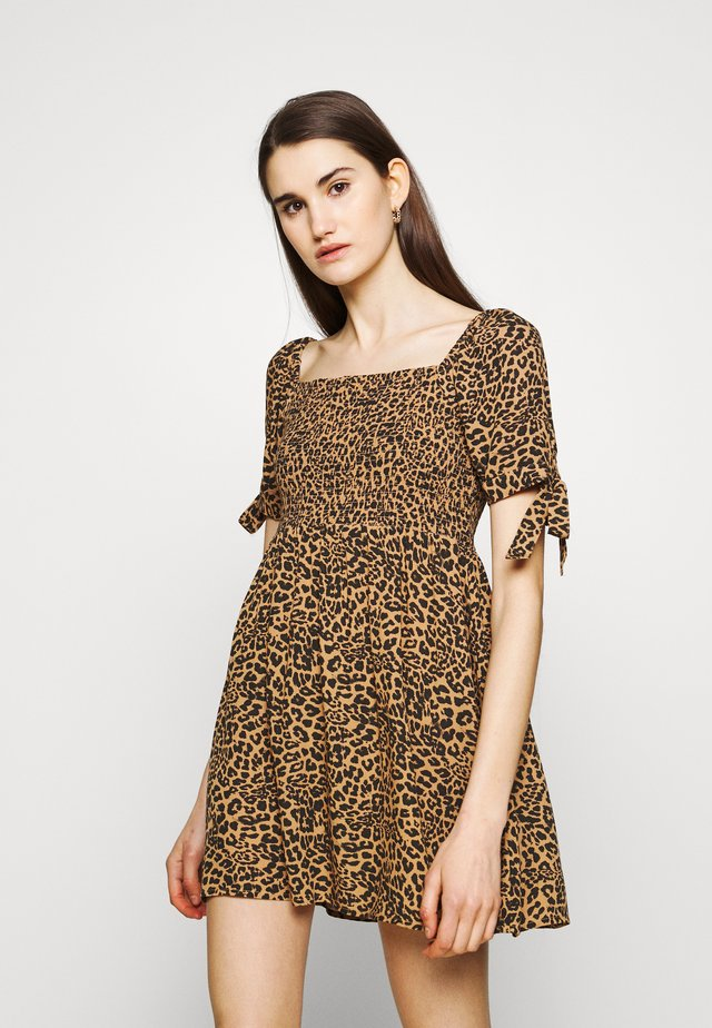 TIE DRESS - Korte jurk - leo