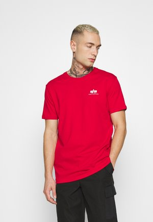 T-shirt med print - speed red