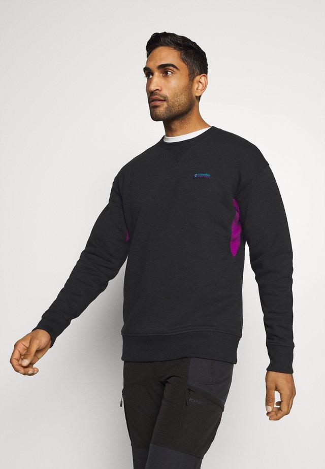 BUGA CREW - Sweatshirt - black/plum
