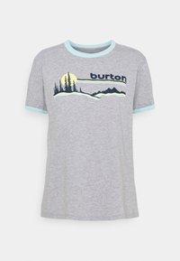 Burton - CARLOW TEE GRAY HEATHER - T-shirt con stampa - gray heather - 0