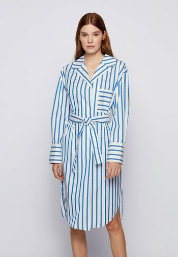 DISSO - Shirt dress - open blue