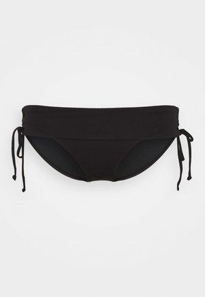 RUCHED SIDE HIPSTER - Bikiniunderdel - black