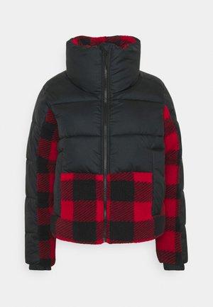 LEADBETTER POINT™ SHERPA HYBRID - Winter jacket - black/red