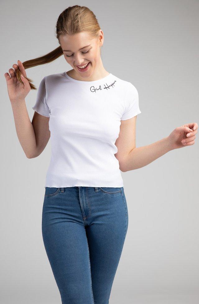 ALVA - T-shirt imprimé - weiß