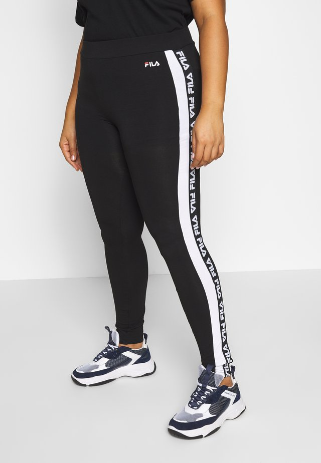 TASYA - Leggings - Trousers - black/bright white