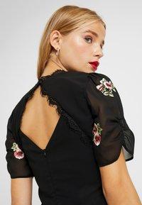 Hope & Ivy Petite - PEPLUM WAIST MIDI DRESS WITH  - Vestito elegante - black - 4
