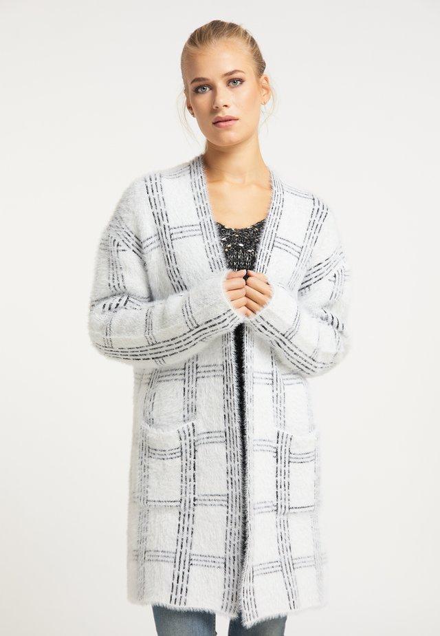 Kardigan - weiß schwarz