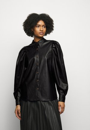 MARIE SLEEVE BLOUSE - Button-down blouse - black
