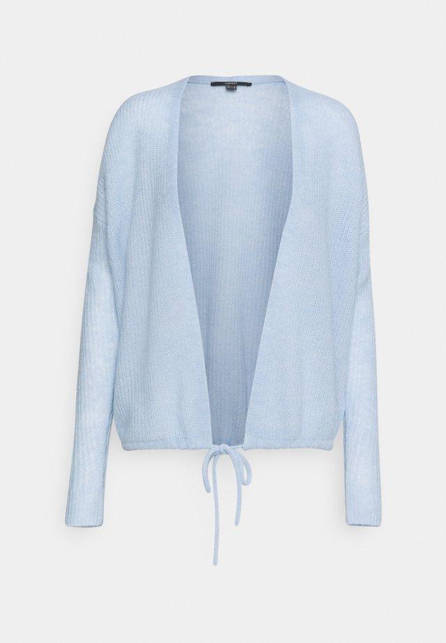 TIE CARDI - Kardigan - pastel blue