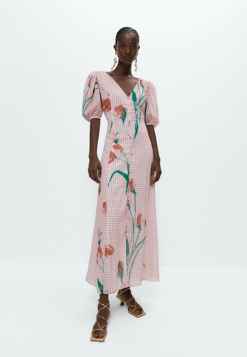 Uterqüe - Robe longue - pink