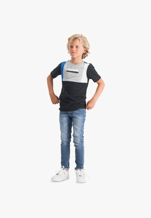 HANNOW - Print T-shirt - deep black