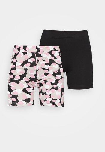 ELLA BIKERS 2 PACK - Shorts - black