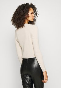 Missguided Tall - SKINNY CROPPED CARDIGAN - Gilet - beige