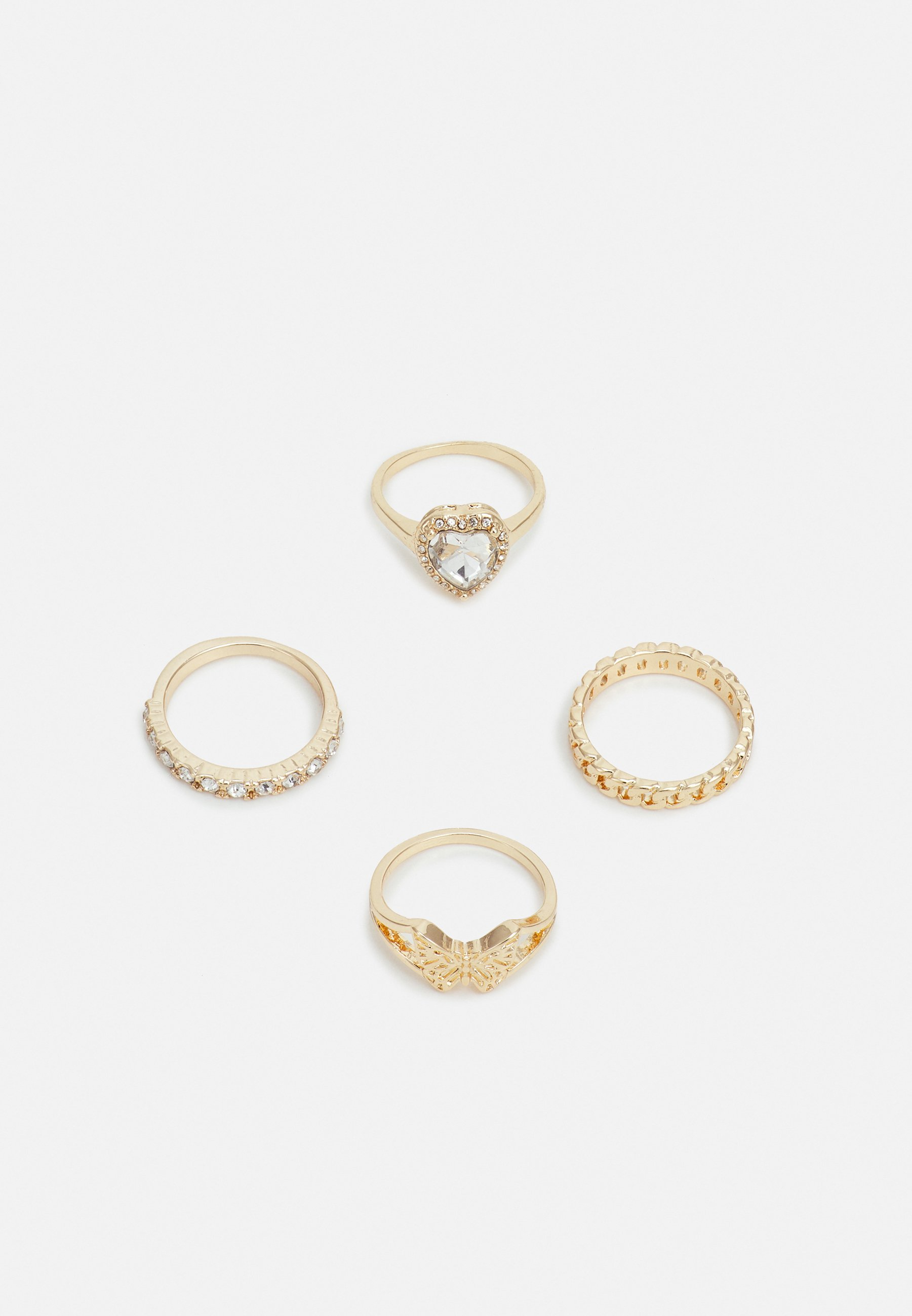 Women HEART AND BUTTERFLY 4 PACK - Ring