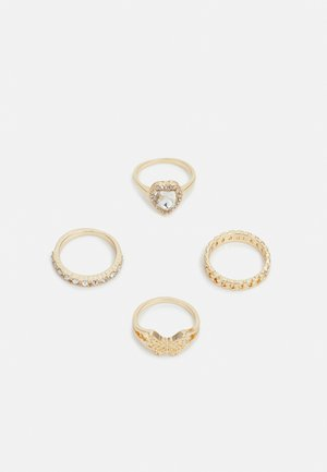 HEART AND BUTTERFLY 4 PACK - Ring - gold-coloured