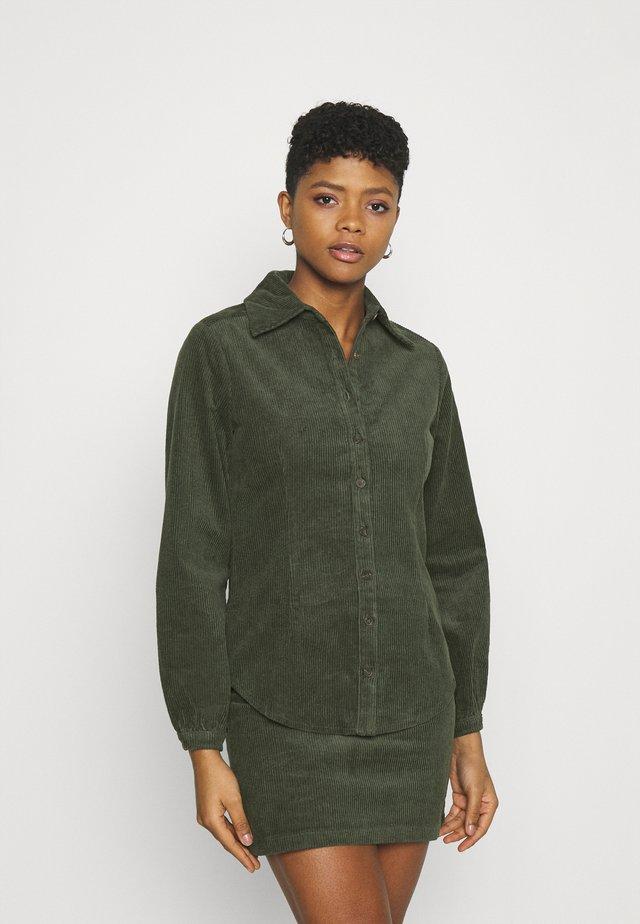 LONG SLEEVES - Button-down blouse - dark green
