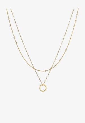 LAYER LOOK CIRCLE - Ketting - gold
