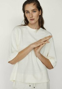 Massimo Dutti - Long sleeved top - white - 1