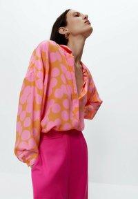 Uterqüe - Button-down blouse - multi coloured - 4