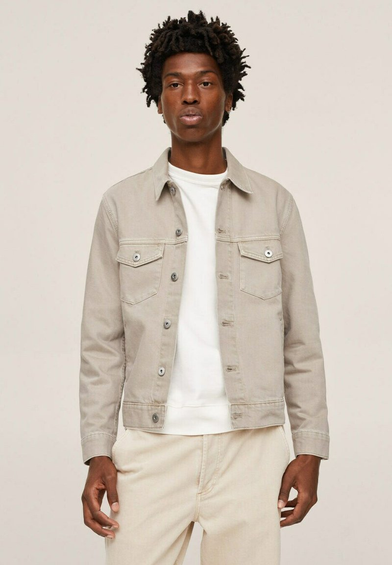 Mango - Denim jacket - open beige