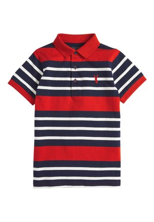 RED/NAVY STRIPE POLO SHIRT (3-16YRS) - Poloshirt - red