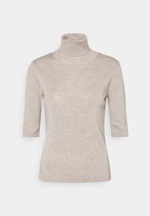 ELBOW SLEEVE - Camiseta básica - beige melange