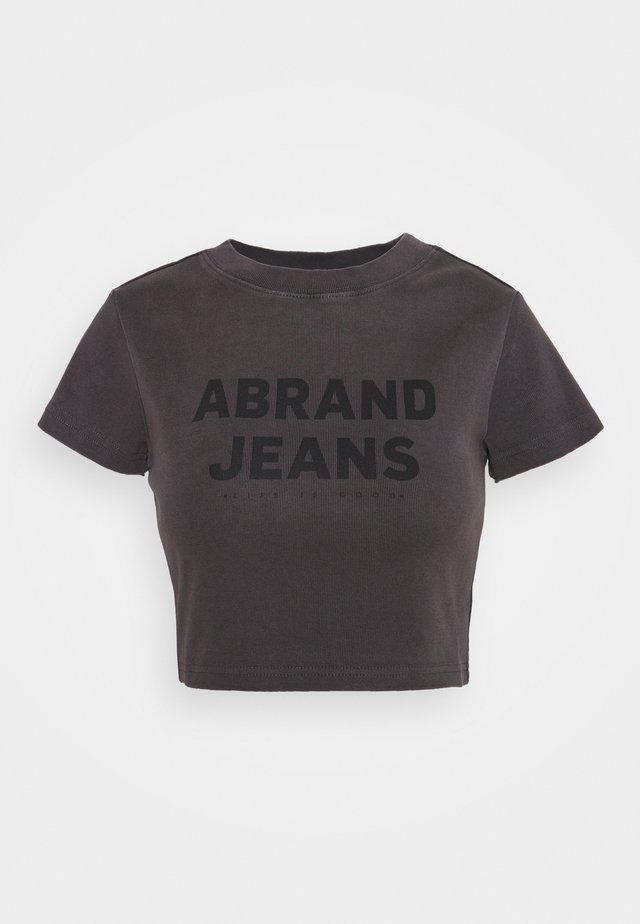 CROP TEE - Print T-shirt - vintage black