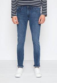 TOM TAILOR DENIM - SKINNY CULVER STRETCH - Jeans Skinny Fit - dark stone blue grey denim - 0