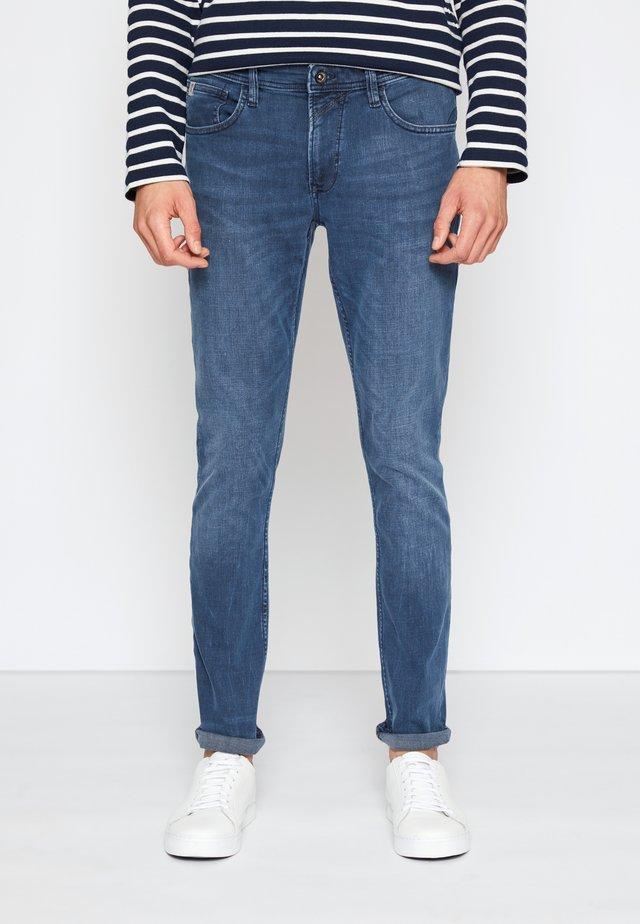 SKINNY CULVER STRETCH - Skinny džíny - dark stone blue grey denim