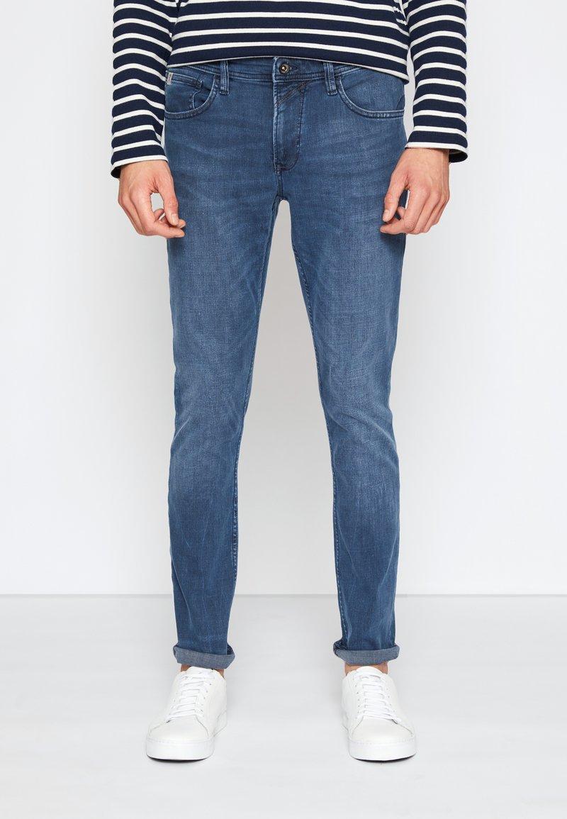 TOM TAILOR DENIM - SKINNY CULVER STRETCH - Jeans Skinny Fit - dark stone blue grey denim