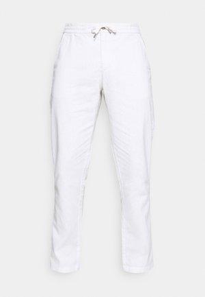 ELASTIC WAIST PANTS - Trousers - white