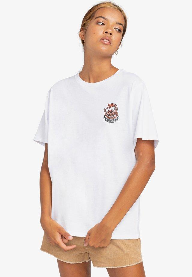 TIMBER! PICK YOUR POISON - T-shirt print - optic white
