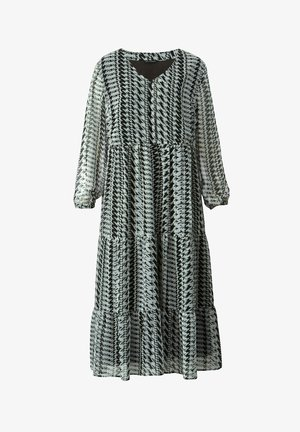 Maxi dress - schwarz,weiß