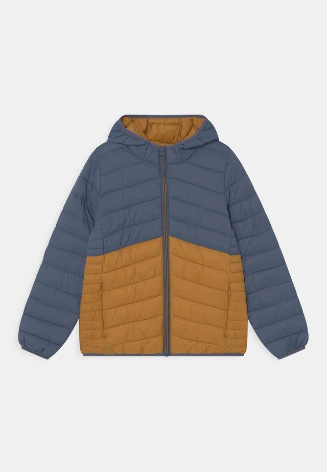 Zimní bunda - dark blue/orange