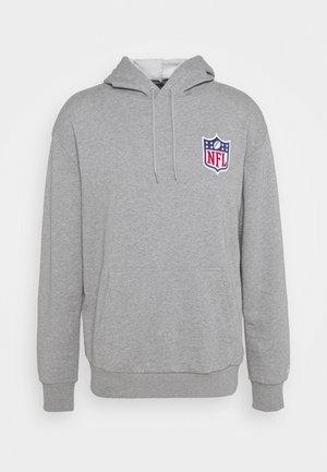 NFL DETAIL LOGO HOODY - Hoodie - grey