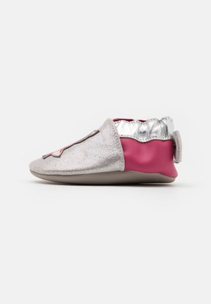 CAT IN LOVE - First shoes - argent/fuchsia
