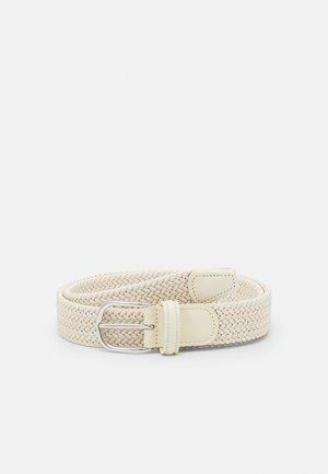 STRECH BELT UNISEX - Pletený pásek - off-white