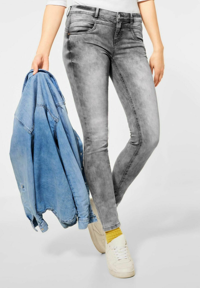 Street One - Slim fit jeans - grau