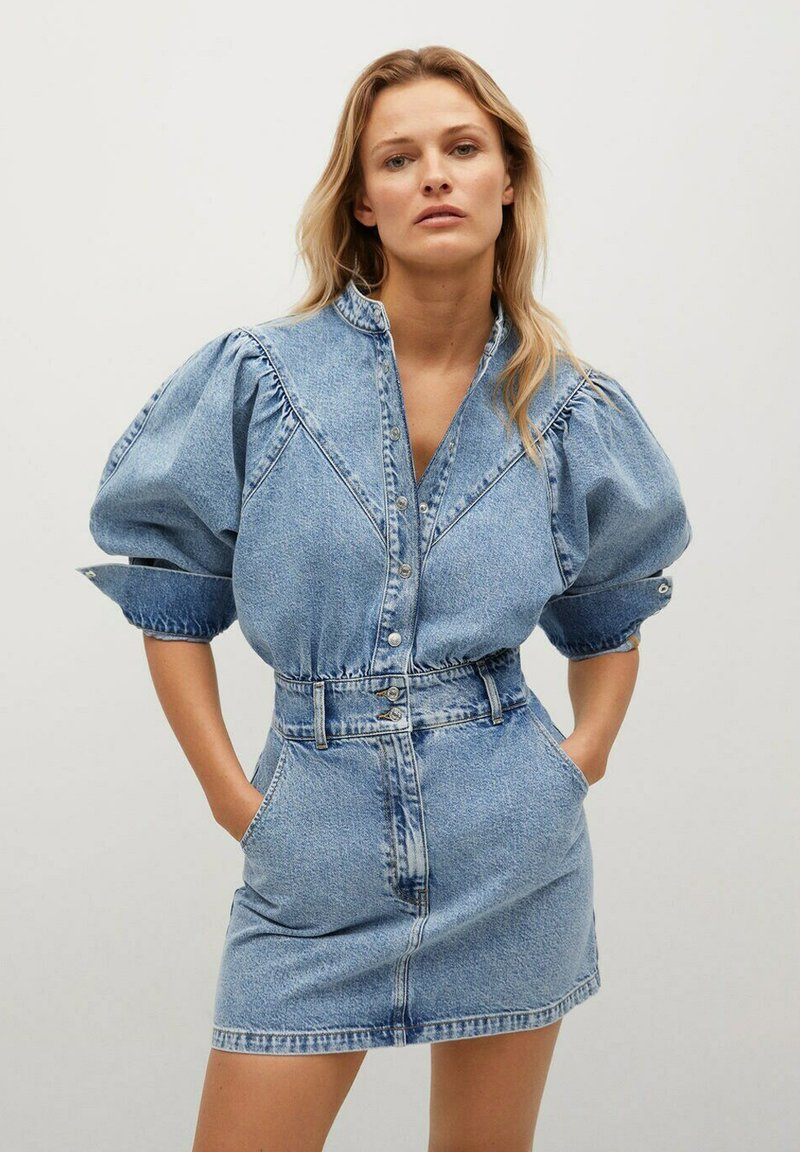 Mango - LOLA - Denim dress - halvblå